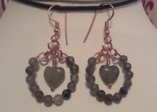 Rose Gold Natural Stone Costume Earrings