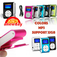 MP3 Player With Digital LCD Screen Mini Clip Support 32GB Micro SD TF Radio