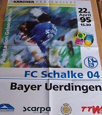 Schalke 04 Plakat Spieltag Spieltagsplakat Uerdingen Dresden KSC FCK BMG HSV VFB