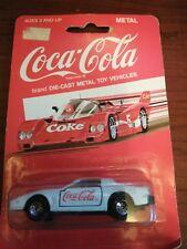 Vintage New 1988 Coca-Cola Coke White Die Cast Metal Team Turbo Race Car #2