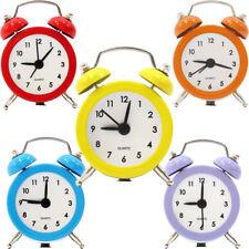 Mini sveglia orologio analogico vintage tavolo quarzo allarme sonoro idea regalo