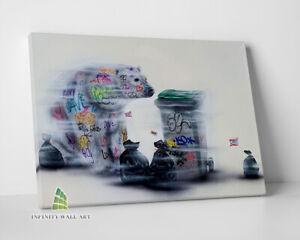 SAVE THE PLANET Graffiti Canvas Art Wall Art Print Picture Banksy Decor -D55