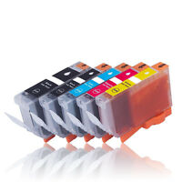 5x kompatibel zu CANON PGI-525PGBK CLI-526BK C M Y mit Chip
