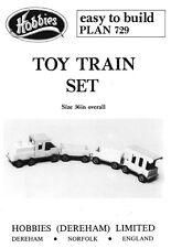 """HOBBY 39 """"giocattolo in legno convoglio piani-fare un grande Retrò GIOCATTOLO BAMBINO"""