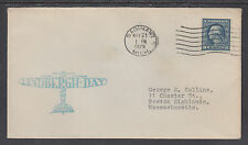 US Sc 496 on 1929 Lindbergh Day Special Event Cover