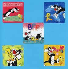 10 Tweety and Sylvester - Large Stickers - Party Favors - Looney Tunes
