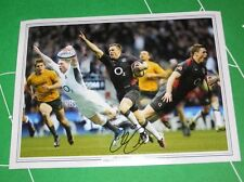 Angleterre Chris Ashton Signé Spectacular Try Scoring Montage Photo
