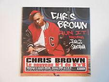 CHRIS BROWN : RUN IT ! feat. JUELZ SANTANA [ CD SINGLE NEUF PORT GRATUIT ]