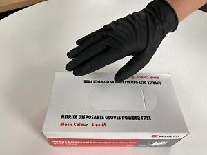 *100 X WÜRTH POWDER N LATEX FREE MEDICAL RUBBER PPE NITRILE GLOVES - MEDIUM*