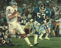 HARRY CARSON NEW YORK GIANTS LINEBACKER SIGNED AUTHENTIC 8x10 PHOTO C w/COA NFL