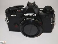 Olympus OM-4 Nero Corpo (come Nuovo) OM4 Alloggiamento SLR Fotocamera