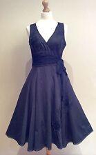 BLACK GREAT PLAINS DRESS SIZE 12 50's STYLE COTTON