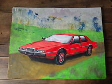 Early Work PAINT of a Car Designer 80's automobile ASTON MARTIN LAGONDA