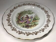 lot2 De 6 Assiettes Creuses Fragonard En Porcelaine Digoin France 🇫🇷 D 24 Cm