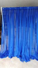 "Wedding drape 2 panel set, 7'x56"" wide, White, Ivory and colors, backdrop."