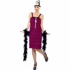 Women's Jazz Flapper Costume - Dress Fancy Ladies 1920s Outfit Smiffys Burgundy