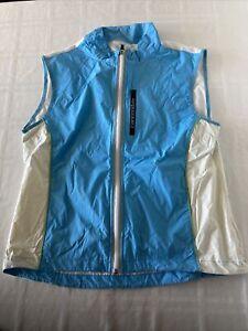 Cannondale Feelit Cycling Full Zip Vest Blue/White Sz Large TS1
