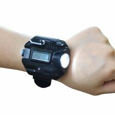 Bright Tactical Waterproof LED Wrist Watch Compass Torch Light Flashlight Lamp