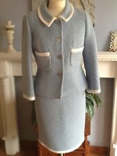 LK BENNETT SUIT JACKET SKIRT 1960'S VINTAGE INSPIRED UK 8-  10 28 waist