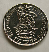 HIGHLY POLISHED SILVER SHILLING 1920-1946 CHOICE OF DATE BIRTHDAY