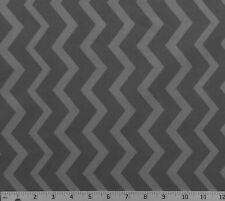 Cotton Quilt Fabric Gray on Dark Gray Chevron By The Half Yard