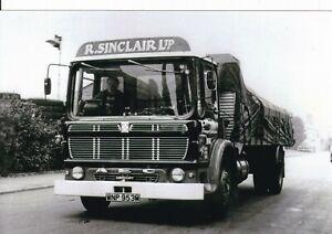B/W PHOTO: R. SINCLAIR AEC MERCURY 4 WHEEL RIGID FLAT - WNP 953M