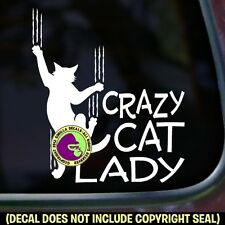 Crazy Cat Lady Vinyl Decal Sticker Car Feline Love Window Bumper Kitty Sign