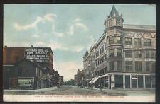 Postcard CONNERSVILLE IN  Hackman-Heeb Dry Good Building & Storefronts 1907