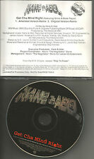 KANE & ABEL Get Cha Mind Right w/ REMIX & CLEAN TRK PROMO DJ CD Single 1999 and