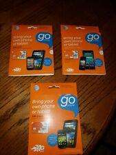 [3~pack]At&T GoPhone kit mico nano standard Sim card Go Phone