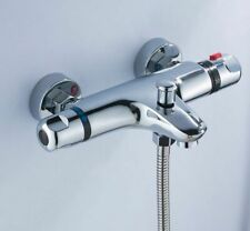 Thermostatic Bath Shower Mixer Wall Mounted Bathroom Brass Water Control Valve