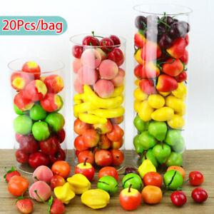 20PCS Fake Artificial Mini Simulation Foam Plastic Fruits Party Kitchen Decor