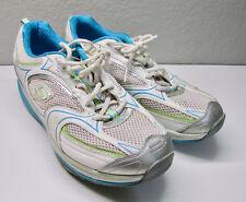 Skechers Shape Ups Damen Größe US 11 UK 8 EUR 41 silber grau weiß blau Schuhe