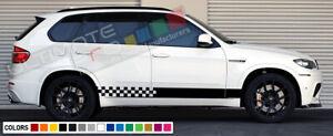 Side Stripe decal sticker kit for BMW X5 M 2007 2009 2010 2011 2013 Lip fender