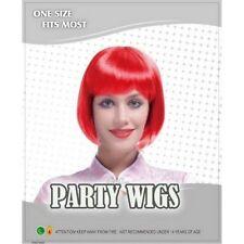 Perruques, extensions et matériel rouge courts raides pour femme