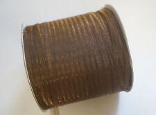 20 Meters Organza Ribbon - 3mm - Cappuchino Brown