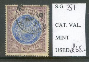 Antigua 1903 Edward 7th 1sh fine used (2020/03/16#06)