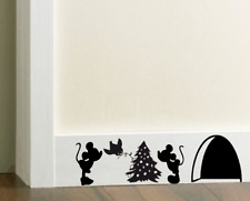 Christmas Mouse Hole Sticker Decal Mice Home Skirting Board  Mickey & Minnie