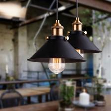 Vintage Black Industrial Light Pendant Fixture Kitchen Dining Room Loft Iron