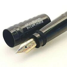 Vintage WATERMAN IDEAL SAFETY fountain pen piston filler antique 1903's GOLD NIB