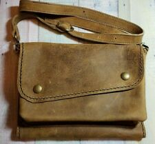 "A5 Leather Journal Cover & Pouch With 35"" Removable Strap"