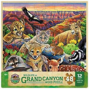 Masterpieces - Wood Fun Facts Grand Canyon Wildlife Jigsaw Puzzle (48 Pieces)