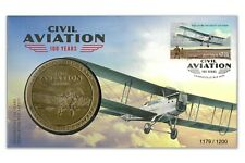 Australia 2020 100 Years Of Civil Aviation Stamp & Medallion Cover - PNC