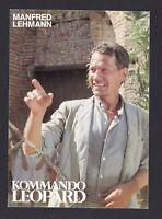 Manfred Lehmann  ... Signierte  Autogrammkarte
