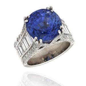 18KW Ceylon Sapphire and Diamond Ring