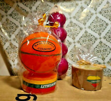 Handmade Candles Basketball Clay earthenware LITHUANIA *NEW* + Floating Candles