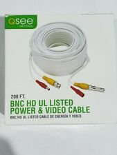 Q-SEE 200' Shielded Video & Power BNC Male Cable w/2-Female Connectors  QS200TC