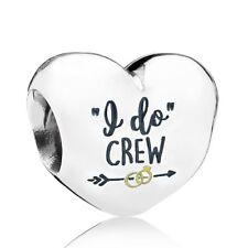 "Pandora SS ""I Do"" Crew Charm ENG790137_12 Wedding Party Bridesmaid Honor"