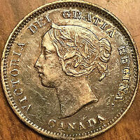 1901 CANADA SILVER 5 CENTS COIN - Excellent example!