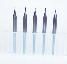 """(5) 0.60mm (.0236"""") 2 FLUTE MICRO CARBIDE ENDMILLS Special Build RBE-060(x)"""